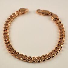 "Mens Womens 18ct Gold Filled Curb Chain Link 8"" Bracelet UK Seller - Gift Idea"