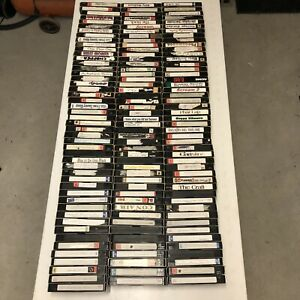 Pre Recorded Vhs Tapes Lot x 142 TV Shows Concerts Movies