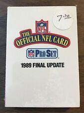 1989 PROSET Final Update 21 Card NFL SEALED Set Sterling Sharpe ROOKIE Meggett +