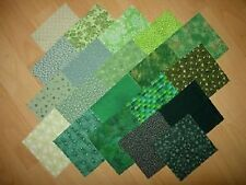 lot de 20 coupons  tissu patchwork verts