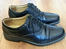 CLARKS Black Leather Lace Up Oxford Shoes Mens UK 7 EXTRA WIDE COMFORT SUPERB
