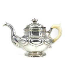 Antike Biedermeier Silber Tee Kanne Knauer Göttingen um 1870