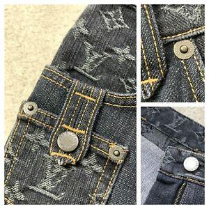 RARE Women's LOUIS VUITTON Monogram Jeans Trousers IT 40 EU 36 UK 6 8 US 2 4 XS