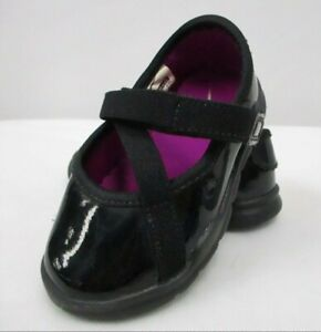 NIKE Infant Girl's Black Patent Leather Strappy Rubber Sole Dress Shoes - 5C