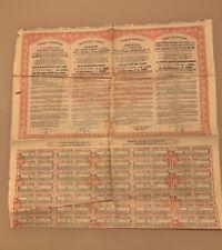 TURQUIE REPUBLIQUE TURQUE OBLIGATIONS DE LA DETTE PUBLIQUE 500 FR  7 1/2% 1933