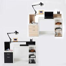 HOMCOM Mesa de Ordenador PC Despacho Oficina Escritorio Estantería 140x55x92cm