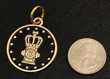 "Loot Crate Pets August 2017 ""Kingdom"" Dog Pet Tag New Gold & Black Collar Charm"