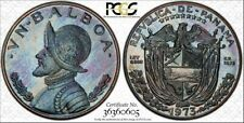 1973 PANAMA 1 BALBOA PCGS PR66 MULTI COLOR TONED COIN ONLY 3 GRADED HIGHER