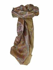 Mulberry Silk Classic Square Scarf Rachol Brown by Pashmina & Silk