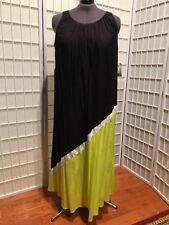Women's NEW Size 3x Catherines Black, White and Green Sleeveless Maxi Dress