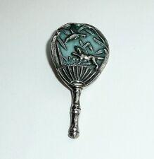 """Beautiful Bluebird Bird Metal Shank Button 3//4/"""" x 5//8/"""" Bluebird on Branch Button"""