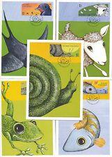 Finland 2008 FDC Maxi Cards (5) - Rain or Sunshine? - Very Cute Animal Cards
