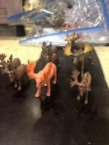 Lot Of 8 Moose Figures