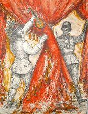 Lucien Philippe MORETTI-Lithographie signée-Sac de bille : représentation