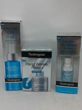Neutrogena Lot-Hydro Boost City Shield Gel Mist, Eye Serum, Rapid Wrinkle Repair