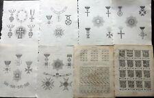 William Berry 1828 Lot of 8 Copper Plates - Heraldry Antique Prints