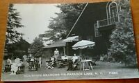 VINTAGE RPPC MOUNTAIN MEADOWS ON PARADOX LAKE, N. Y. ADIRONDACKS
