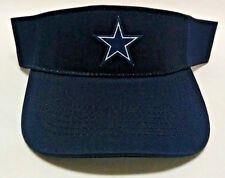 Dallas Cowboys Heat Applied Applique Logo on Navy Blue visor cap hat! Adjustable