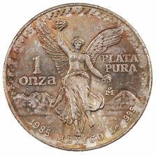 Raw 1985 México Libertad 1 Onza Toned Obverse 1oz .999 Mexican Silver Coin