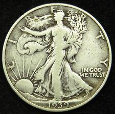 1939 D Walking Liberty Half Dollar 90% Silver F Fine (B04)