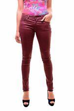 Lois Women's NBW Pasadena Leather Look Jeans Burgundy W27 L34 RRP £72 BCF79