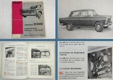 Fiat 2300 Limousine Kombiwagen PKW Betriebsanleitung Bedienungsanleitung 1963