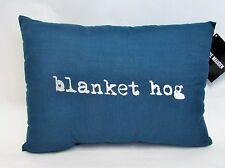 """Steve Madden 14"""" x 20"""" Breakfast Throw Pillow """" blanket hog"""" NWT"""
