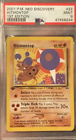 2001 1st Edition Hitmontop Pokemon Neo Discovery Non Holo PSA 9 Base