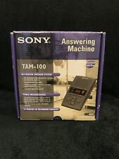 Sony Telephone Answering Machine TAM-100 Digital Message System Tested & Working