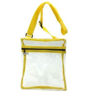 Transparent Stylish PVC Purse Clear Handbag Tote Shoulder Crossbody Bag Gameday