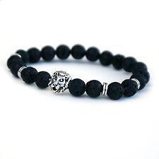 LION Lava Stone Braccialetto, Bracciale Unisex Diffusore per uomini e donne
