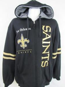 New Orleans Saints Mens Large Reversible Hooded Jacket MSRP $129.99 NOS 185
