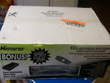 New Memorex Mvr4040A Vcr Video Cassette Recorder Hi Fi Stereo 4 Head Vhs Player