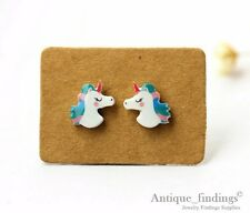4PCS Mini Cute Unicorn Resin Charm Perfect For Stud Earring Rings YED015D