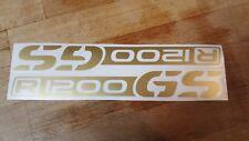 2 Stck. R1200 GS  Aufkleber Motorradaufkleber R 1200 GS f. BMW Fans 200 mm GOLD