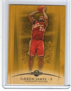 08-09 LEBRON JAMES TOPPS HARDWOOD GOLD # 45 143/175