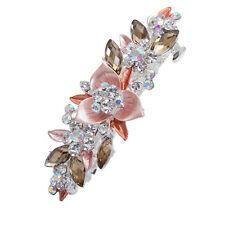 Flower Barrette Hair Clips Hairpin Hair Pin Rhinestone Crystal Metal For Girl