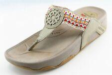 Skechers Tone-Ups Size 8 M Beige Flip Flop Synthetic Women Sandal Shoes