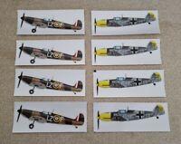 Joblot Of Precut WW2 Aircraft Stickers / Decal, Messerschmitt, Spitfire