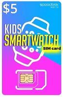 $5 SiM CARD for KiDs SMARTWATCH | 3in1 | GSM 2G 3G 4G LTE - Kids Smart Watch SiM