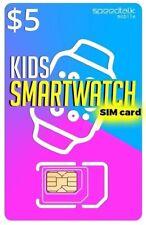 $5 SiM CARD for KiDs SMARTWATCH | 3in1 | GSM  4G LTE - Kids Smart Watch SiM