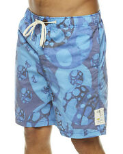 BILLABONG BALI COTTON CANVAS BOARDSHORTS BLUE ANDY DAVIS W28 BNWT RRP £65.00