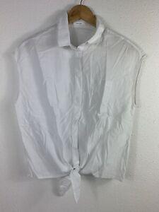 Damen - T-Shirt - Bluse - OPUS - Knoten - Weiß - gebraucht - Gr. 36 - #A2