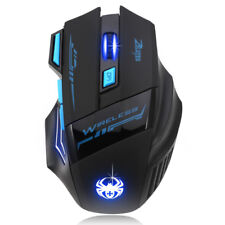 Adjustable 2400DPI Optical Wireless Gaming Game Mouse For Laptop PC New Hot