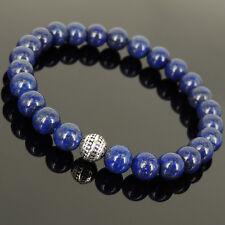 Reiki Energy Charged Lapis Gemstone Bracelet Throat Chakra Stones Stability Bead