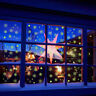 Christmas Glow in the Dark Snowflakes Window Decoration Stickers