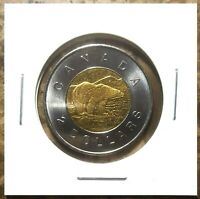 Canada 1996 First Year Issue Toonie Brilliant UNC BU From Mint Roll!!