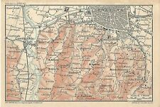Carta geografica antica BOLOGNA Dintorni Casalecchio 1916 Old antique map
