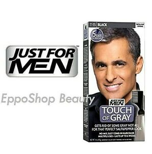 Just For Men Touch of Gray Comb In Hair Color Black Gray Coverage Touch Up T-55