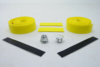 ROAD BIKE CORK HANDLEBAR TAPE BICYCLE BAR WRAP YELLOW NEW